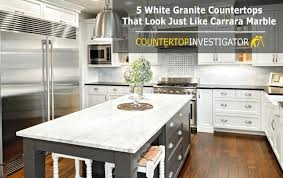 5 white granite that look just like marble countertops colors home depot