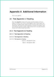 Apa Style Reseach Paper Updated Appendix Template Word 2010 With Appendix Template Apa Style