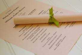Wedding Program Scroll 8 Unique Alternative Ways To Display Your Wedding Program