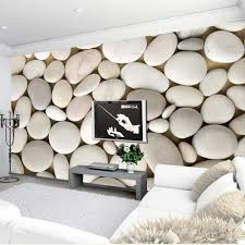 Decor Wall Papers 3D Beige Pebbles ...