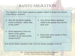aim what are the causes and effects of african migration do now  aim what are the causes and effects of african migration