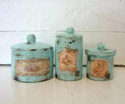 rustic canisters turquoise kitchen canisters rustic kitchen canisters with shabby chic design and turquoise color style