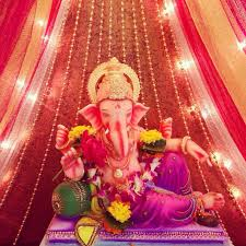 ganesh decoration ideas with ds and lights image source
