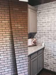 before and after brick panel painted white brick backsplash interior brick wall panels fresh of brick wall panels