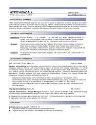 network engineer sample resume system engineer resume sample