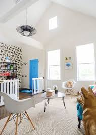 this pet friendly greeting area at the one tail at a time adoption center got a major face lift with modern furniture and canine accents fit for dog