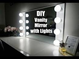 How To Make A Vanity Mirror With Lights