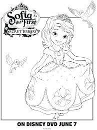 the first coloring pages page free sophia princesa sofia