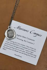 mariners compass wax seal necklace antiqued compass wax seal pendant from anti mariners compass wax seal necklace antiqued compass wax seal pendant