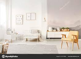 Gelb Aus Holz Sessel Kinderzimmer Schlafzimmer Innenraum Mit