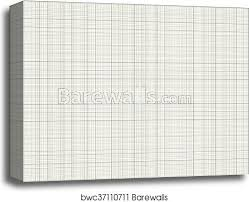 Gray Color Graph Paper On A4 Sheet Size Canvas Print