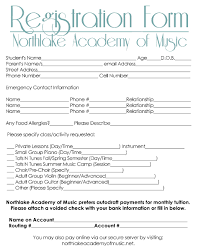 printable registration form template printable registration form