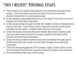 this i believe essay topics this i believe essay ideas com