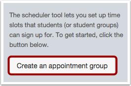 Group Scheduler Use The Scheduler Canvas Instructor Orientation
