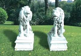 concrete lion garden statues outdoor lions statue marble grand stone animal chinese c garden decoration lion statue outdoor