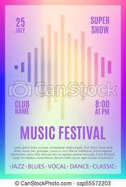 Festival Poster Music Flyer Carnival Design Template For Poster Brochure Ticket Program Event Vector Illustration