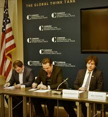 the speaker partited in the round table format of carnegie endowment for international peace february