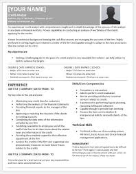 Credit Analyst Resume Example Credit Analyst Resume Templates For Ms Word Resume Templates