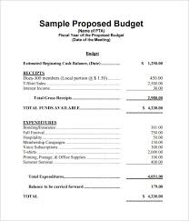 budgets sample budget proposal templates 11 free sample example format