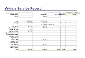 Vehicle Maintenance Record Book Equipment Maintenance Log Template Word Doc Download Record Vehicle