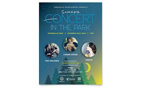 Concert Flyer Template For Word Summer Concert Flyer Template Word Publisher
