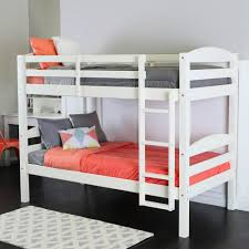 twin bunk beds. Brilliant Beds Shop Twin Over Solid Wood White Bunk Bed  On Sale Free Shipping  Today Overstockcom 6372467 To Beds