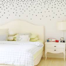 Wall Decals 120 Silver Metallic 2 inch Polka Dot Vinyl Wall ...