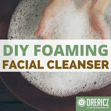 homemade diy foaming cleanser recipe