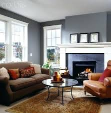 Blue walls brown furniture Curtains Gray Walls Brown Couch Living Room With Furniture Grey Wonderful Blue Home Design Ideas Gray Walls Brown Couch Grey Large Size Of Living Room With Photo And