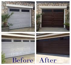 howard garage doorsDiy Garage Door Makeover Using Minwax Gel Stain In Hickory  Home