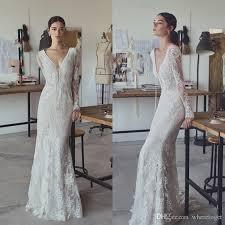 lihi hod 2017 vintage sheath wedding dresses full lace v neck
