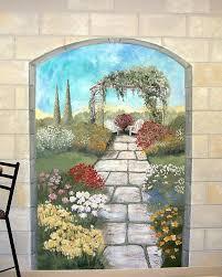 outdoor wall murals garden wall