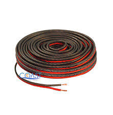 car audio wire red 50 ft true 12 gauge awg car home audio speaker wire cable spool bpes12
