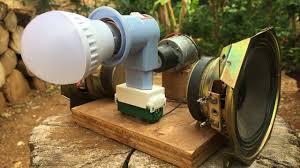 dc motor using magnet speaker very