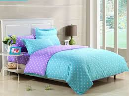 polka dot purple and blue bedding sets
