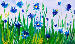 Easy Painting Easy Acrylic Painting Abstract Cornflowers Asl Art Sherpa