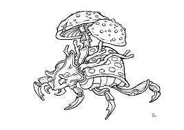 Art Coloring Page Shroom Beetle Elder Scrolls Online