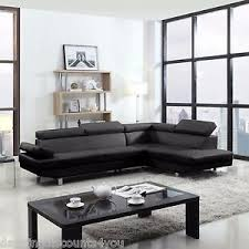 modern leather couch. 2 piece contemporary modern faux leather black sectional sofa couch f