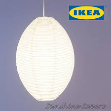 ikea paper lamp ikea solleftearing solleftea pendant lamp shade ovel white rice paper 1 of 4only