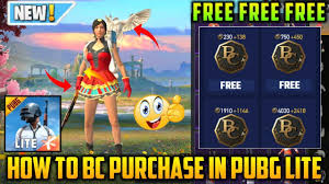 How To Buy Free BC In Pubg Mobile Lite ...