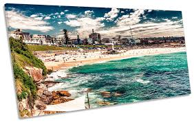 details about bondi beach sydney framed panoramic canvas print wall art