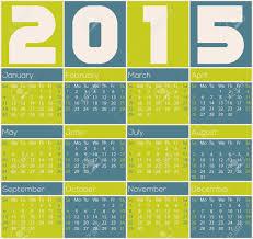 Simple 2015 Calendar Simple 2015 Calendar Design With Color Rectangles Royalty Free