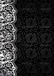 fl black background with lace backgrounds decorative