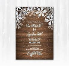 wood snowflake wedding invitation diy digital file or print extra wood wedding invitation winter wedding invitation