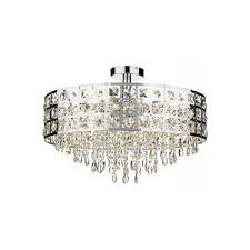 ss duc0650 6 light round semi flush ceiling light