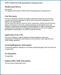 Services Quotation Template Cleaning Quotation Format Poporon Co