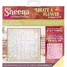 Sheena Douglass Create A Flower Stencil A Leaf Of Graph Paper