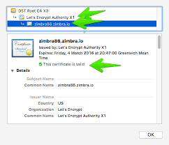 Example Of Share Certificate Extraordinary Installing A LetsEncrypt SSL Certificate Zimbra Tech Center