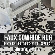 awesome faux hide rugs gallery 1