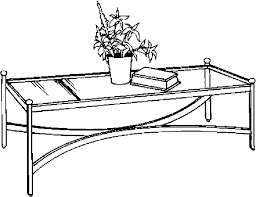 coffee table clipart black and white. pin furniture clipart coffee table #14 black and white e